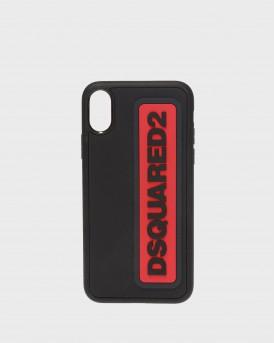 ΘΗΚΗ ΚΙΝΗΤΟΥ iPHONE X BLACK RED LOGO ΤΗΣ DSQUARED2 - ΙΤΜ0064 35802197