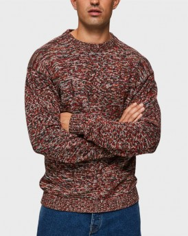 MULTI-COLOURED KNITTED PULLOVER ΤΗΣ SELECTED - 16069051