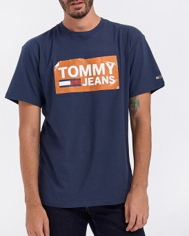 T-SHIRT TJM SCRATCHED BOX TEE ΤΗΣ TOMMY HILFIGER - DΜ0DM06502