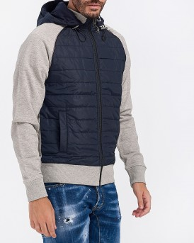 ΜΠΟΥΦΑΝ MIXED MEDIA HOODED ZIP THROUGH ΤΗΣ TOMMY HILFIGER - MW0MW10758