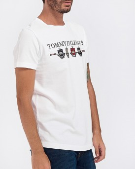T-SHIRT FOUR CRESTS EMBRIDERY TEE ΤΗΣ TOMMY HILFIGER - ΜW0ΜW11806