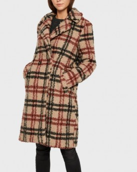 ΠΑΛΤΟ CHEQUERED TEDDY COAT ΤΗΣ VERO MODA - 10218002