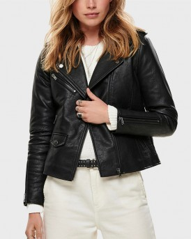 LEATHER LOOK PU JACKET ΤΗΣ ONLY - 15182898