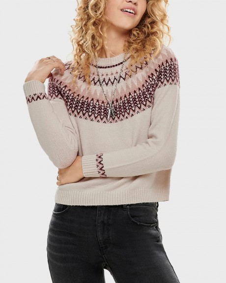PATTERNED KNITTED PULLOVER ΤΗΣ ONLY - 15183706