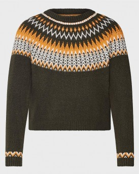 PATTERNED KNITTED PULLOVER ΤΗΣ ONLY - 15183706 - ΛΑΔΙ
