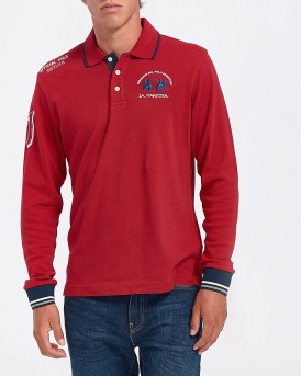 ΠΟΛΟ MAN POLO L/S JERSEY INTERLOCK ΤΗΣ LA MARTINA - ΟΜΡ300