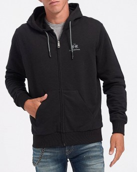 ZAKETA MAN FULL ZIP HOODED FLEECE ΤΗΣ LA MARTINA - CCMF02