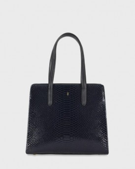 ΤΣΑΝΤΑ GEORGIA TOTE BAG NAVY SNAKE BLACK WESTPORT ΤΗΣ PAUL'S BOUTIQUE - GEORGIA PBN127998