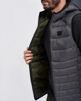 ΓΙΛΕΚΟ ESSENTIALS BOMB BODY WARMER HOOD ΤΗΣ JACK & JONES - 12156213 - ΑΝΘΡΑΚΙ