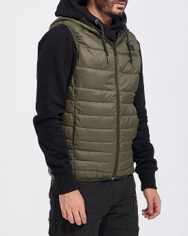 ΓΙΛΕΚΟ ESSENTIALS BOMB BODY WARMER HOOD ΤΗΣ JACK & JONES - 12156213 - ΛΑΔΙ