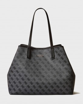 ΤΣΑΝΤΑ VIKKY SHOPPER WITH LOGO PRINT AND POCHETTE - SG699524