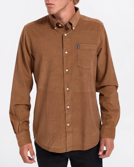 ΠΟΥΚΑΜΙΣΟ CORD 1 TAILORED SANDSTONE ΤΗΣ BARBOUR - MSH4049