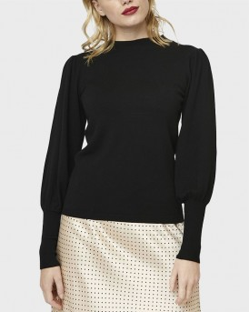 BLACK FINE-KNIT JUMPER ΤΗΣ COMPANIA FANTASTICA - FA19SHA10
