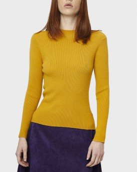 MUSTARD RIBBED JUMPER ΤΗΣ COMPANIA FANTASTICA - FA19SHA08