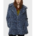 BLUE LEOPARD FURRY EFFECT COAT ΤΗΣ COMPANIA FANTASTICA - WI19ΗΑΝ203 - ΣΙΕΛ
