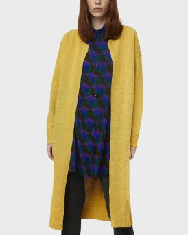 LONG MUSTARD KNITTED JACKET ΤΗΣ COMPANIA FANTASTICA - FA19CHU11 - ΚΙΤΡΙΝΟ