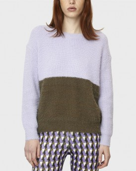 LILAC AND GREEN KNIT JUMPER ΤΗΣ COMPANIA FANTASTICA - WI19CHU22 - ΜΩΒ