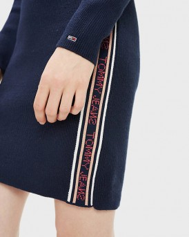 ΦΟΡΕΜΑ FUNNEL NECK JUMPER DRESS ΤΗΣ TOMMY HILFIGER - DW0DW07200