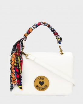 TΣΑΝΤΑ SCARF EMBELLISHED LOGO PLAQUE BAG ΤΗΣ LOVE MOSCHINO - JC4044PP1ALG0