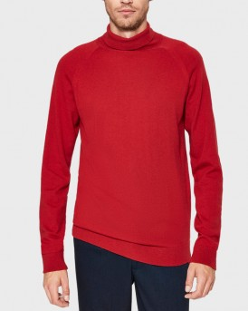 ROLL NECK - KNITTED PULLOVER ΤΗΣ SELECTED - 16063607 - ΚΟΚΚΙΝΟ
