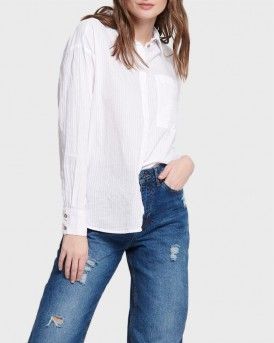 ΠΟΥΚΑΜΙΣΟ STRIPED LONG SLEEVED SHIRT ΤΗΣ ONLY - 15173492