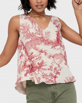 PRINTED SLEEVELESS TOP ΤΗΣ ONLY - 15194592