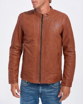ΔΕΡΜΑΤΙΝΟ JPRRUSSEL LEATHER LACKET STS PREMIUM ΤΗΣ JACK & JONES - 12157698