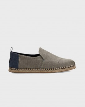 ΕΣΠΑΝΤΡΙΓΙΕΣ DRIZZLE GREY WASHED CANVAS MEN'S DECONSTRUCTED ALPARGATAS ΤΗΣ TOMS - 10013214 - ΓΚΡΙ
