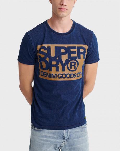 DENIM GOODS CO PRINT T-SHIRT ΤΗΣ SUPERDRY - M1010056Α