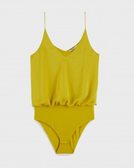 VISCOSE SATIN BODYSUIT ΤΗΣ MAISON SCOTCH - 156307