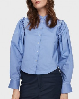ΠΟΥΚΑΜΙΣΟ CROPPED RUFFLE DETAIL SHIRT ΤΗΣ MAISON SCOTCH - 156023