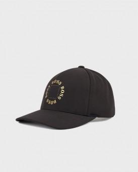 ΚΑΠΕΛΟ STRETCH CANVAS CAP WITH METALLIC LOGO ΤΗΣ BOSS - 50423963 CAP-CIRCLE - ΜΑΥΡΟ