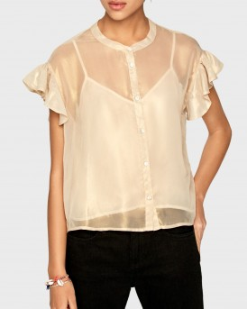 ZOE SEMITRANSPARENT BLOUSE ΤΗΣ PEPE JEANS - PL303708 ΖΟΕ
