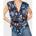 AMAIA FLOWER PRINT BLOUSE WITH FRILLS ΤΗΣ PEPE JEANS - PL303659 AMAIA - ΜULTI