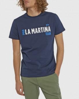 T-SHIRT ΤΗΣ LA MARTINA - PMR004 JS206 - ΜΠΛΕ