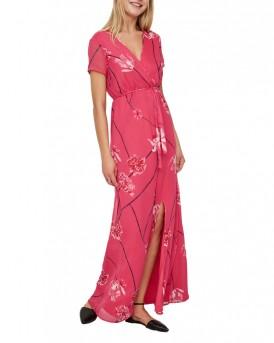 Κοντομάνικο MAXI Φόρεμα της VERO MODA - 10190317 - ΦΟΥΞΙΑ