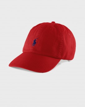 ΚΑΠΕΛΟ COTTON CHINO BASEBALL CAP THΣ POLO RALPH LAUREN - 710548524002 - ΚΟΚΚΙΝΟ