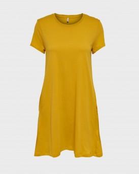 ΦΟΡΕΜΑ SOLID COLORED DRESS THΣ ONLY - 15202971 - ΜΟΥΣΤΑΡΔΙ