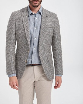 ΣΑΚΑΚΙ IN VIRGIN WOOL WITH LINEN THΣ BOSS - 50427053 ΗΑRTLAY1 - ΓΚΡΙ