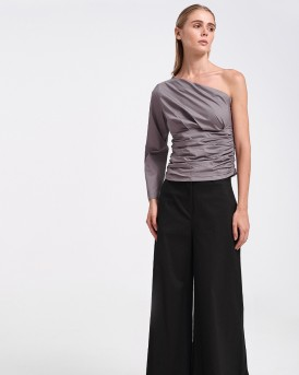 POPLIN TOP WITH GATHERING ΤΗΣ POPTOMETRY - Μ1803 - ΜΩΒ