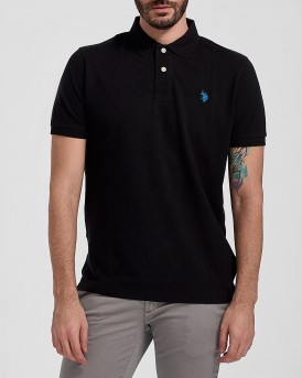 INSTITUTIONAL POLO THΣ US POLO - 55957 41029 - ΜΑΥΡΟ