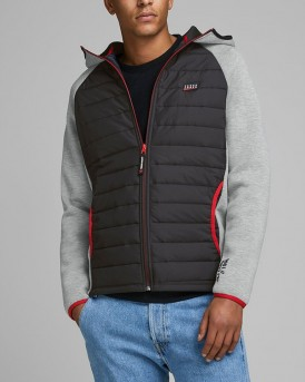 PADDED FRONT QUILTED JACKET ΤΗΣ JACK & JONES - 12166705 - ΓΚΡΙ