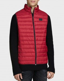 Jack & Jones High Collar Puffer Γιλέκο - 12165202 - ΚΟΚΚΙΝΟ