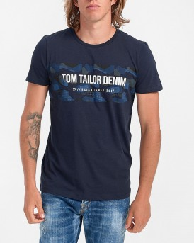 Tom Tailor T-Shirt Crew Neck - 1017294.ΧΧ.12 - ΜΠΛΕ