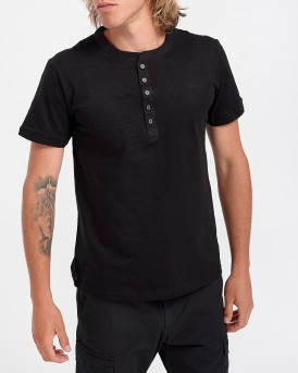 Antony Morato T-Shirt With Contrasting Band Detail - MΜΚS01725/FA100139 - ΜΑΥΡΟ
