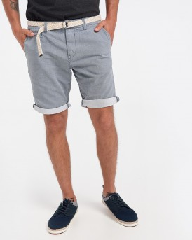 Tom Tailor Βερμούδα Chino Shorts With Belt - 1016953.ΧΧ.12 - ΣΙΕΛ