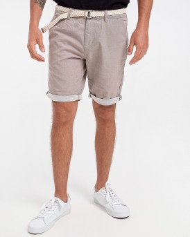 Tom Tailor Βερμούδα Chino Shorts With Belt - 1016953.ΧΧ.12 - ΜΠΕΖ