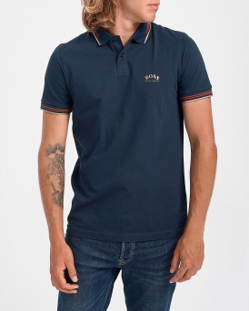 Boss Polo Paul Curved - 50412675 PAUL CURVED - ΜΠΛΕ