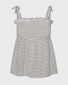 Vero Moda Top Striped Cami - 10225752 - ΑΣΠΡΟ