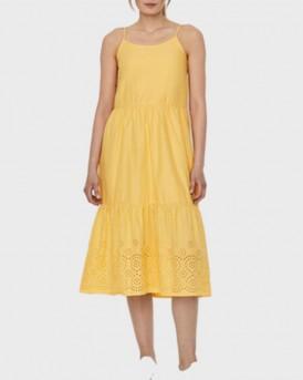 Vero Moda Dress Embroidered - 10225954 - ΚΙΤΡΙΝΟ